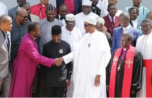 Image result for I Will End The Killings Soon – Buhari Promises Nigerians As He Meets CAN Leaders In Aso Rock