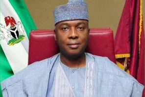 Saraki receives electric welcome as he visits home