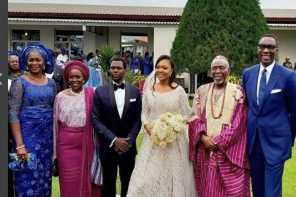 More photos from the N10million White Wedding of Olu Jacobs and Joke Silva's son (photos)