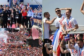 Croatian footballers return home after an incredible outing at the world cup (Photos)