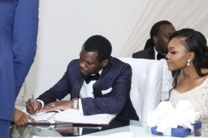 Photos from Olu Jacobs and Joke Silva's Son White Wedding