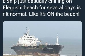 Photos: Unknown Ship Spotted At Elegushi Beach