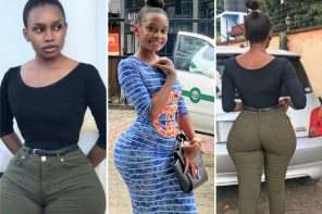 See The Young, Curvy Tanzanian Slay Queen With Big Hips Going Viral