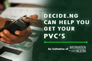 #Decide2019: DECIDE.NG TO HELP CITIZENS GET THEIR PVC'S BEFORE THE DEADLINE DATE