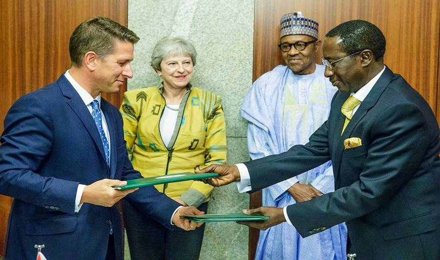 Image result for Highlights of Theresa May's Visit to Nigeria