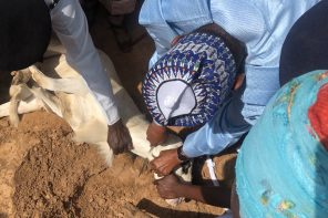 Photos of Buhari personally slaughtering his eid el-kabir ram