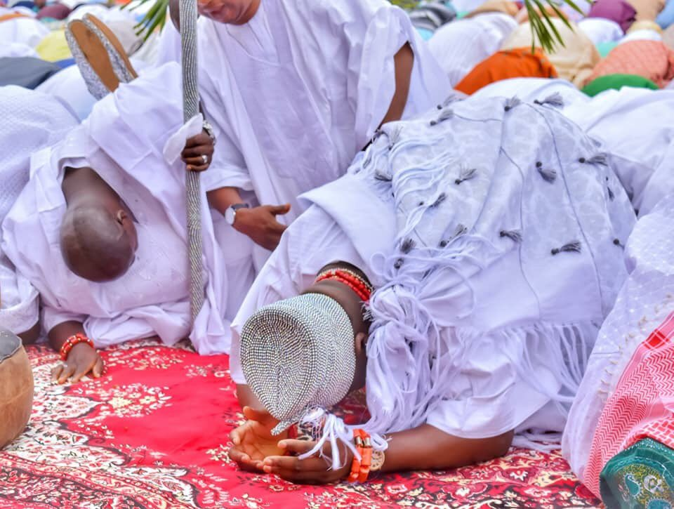 Candy TV -  Online Entertainment Tv See Pictures Of Ooni Of Ife Taking Part In The EID Prayers