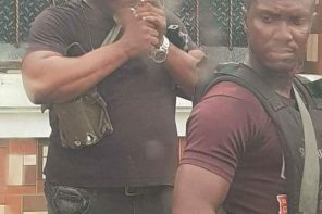 SARS Officer Spotted Smoking During Operation In Port-Harcourt