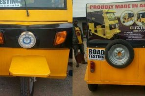 Check out these photos of an electric Keke Napep reportedly made in Abia state