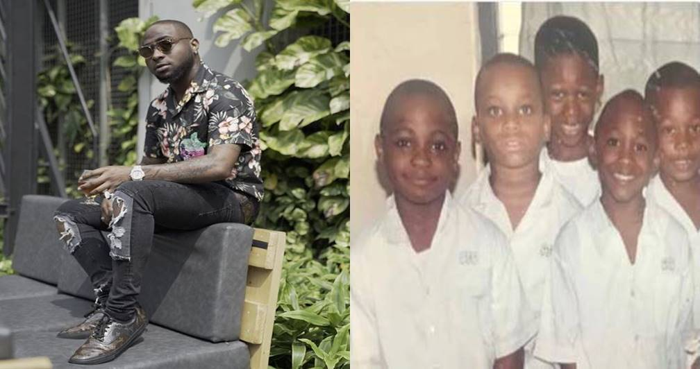 Check out this trending throwback photo of Davido and his cousins