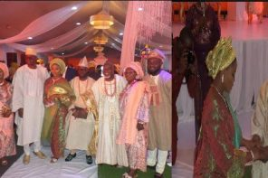 Photos from Governor Ayo Fayose's daughter wedding to Odunlade Royal Family