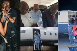 Finally, Davido admits that the private jet belongs to his father