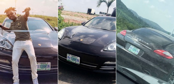 Mayorkun buys brand new Porsche