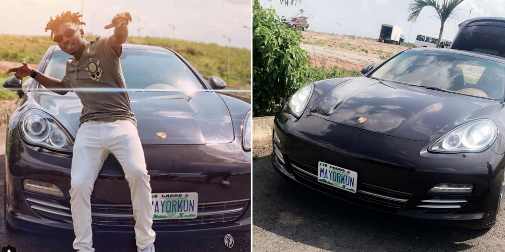 Image result for Mayorkun acquires a brand new Porsche (Photo)