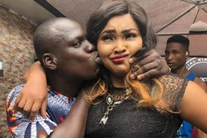 The Awkward Moment Strange Man Forcefully Kissed Mercy Aigbe (Photo)