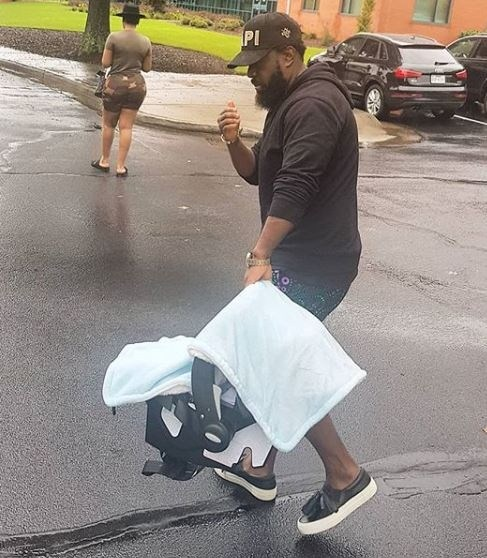 Image result for Timaya shares first photo of his new born son