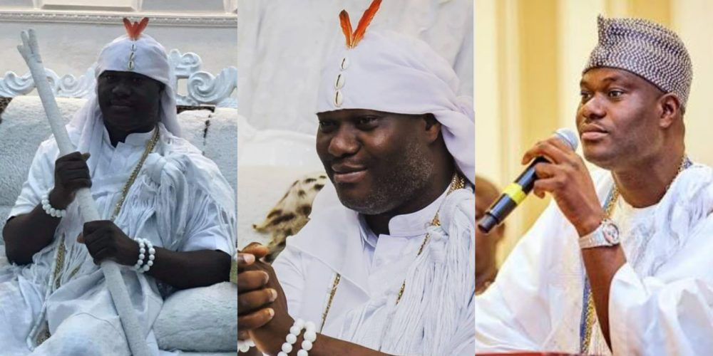 Image result for After going into seclusion for 7 days in Osun, Ooni of Ife, reveals himself (photos)
