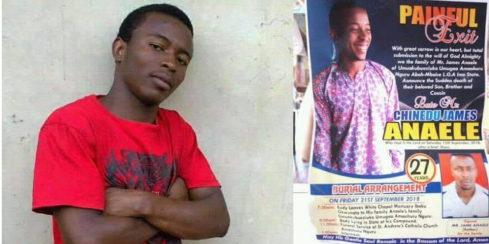 Federal Polytechnic student of Nekede allegedly poisoned to death in Imo state (Photos)
