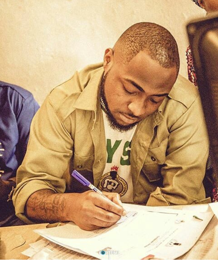 Image result for NYSC cancels Davido's one year service