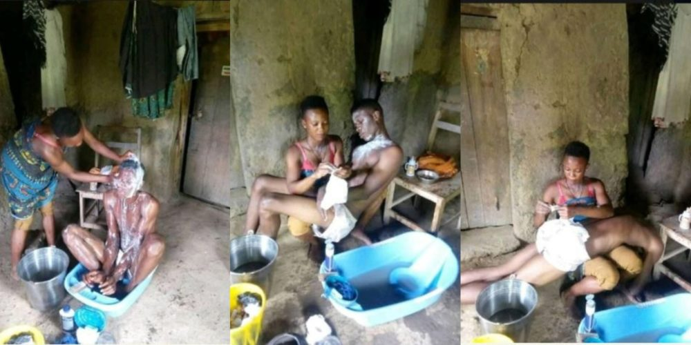 Lady decides to hijack new headlines by treating her matured boyfriend as a toddler
