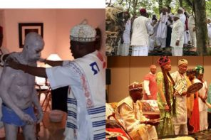 Nigerian man made a king in USA after undergoing spiritual cleansing (Photos)