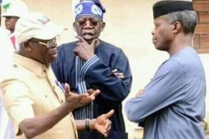 See 3 funny interpretations to this Osinbajo, Tinubu and Oshiomhole's trending photo