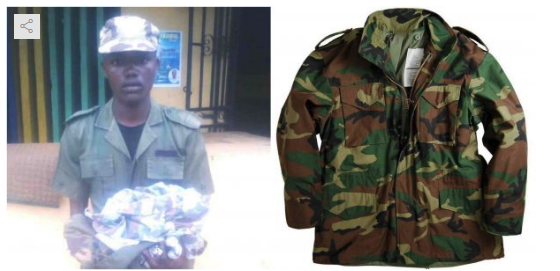 man arrested for using army uniform to rob retired soldier