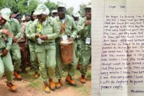 Young girl sends love letter to her male corps member teacher