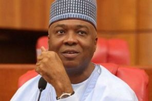 Saraki stops Akpabio from speaking on Senate floor