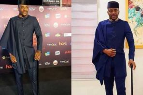 Check out Ebuka's lovely outfit to the premiere of Kemi Adetiba's new movie