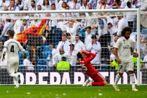 Madrid 1 Levante 2: 'Courtois getting exposed for the fraud he is in La-liga.' Fans Troll Real Madrid Goal Keeper, Thibaut Courtois, For Conceding This Cheap Goal( Video)