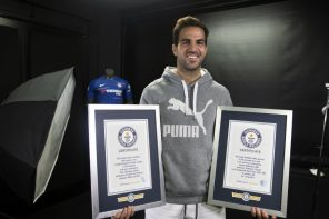 Here Is What Fans Are Saying About Chelsea Midfielder's, Cesc Fabregas, Double Guinness World Record