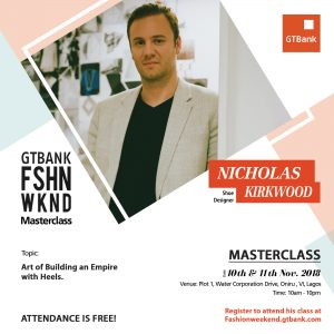 fashionweekend social media nicholas 300x300 - Learn how to Build an Empire with Heels from Award-Winning Shoe Designer, NICHOLAS KIRKWOOD – Join Nicholas in his Masterclass at the 2018 GTBank Fashion Weekend