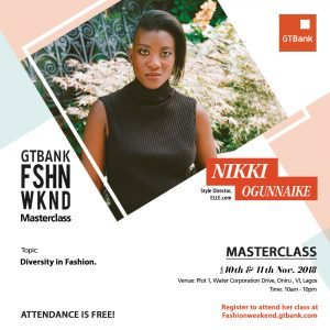 "fashionweekend social media nikki 300x300 - Join Style Director, Nikki Ogunnaike as she discusses ""Diversity in Fashion"" during her Masterclass at the 2018 GTBank Fashion Weekend"