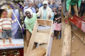 Father fakes son's death with a log of wood inside coffin