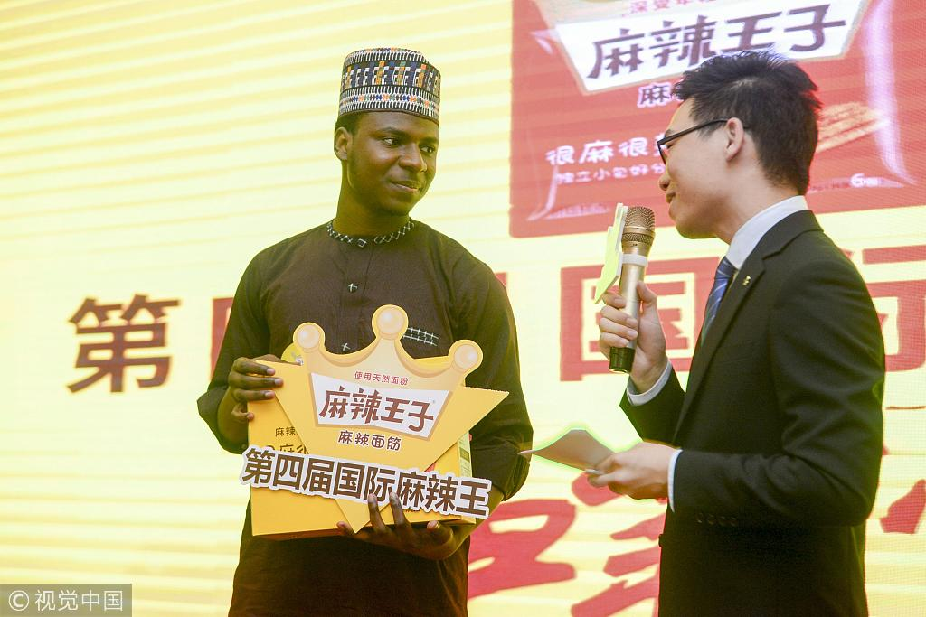 Nigerian man wins a Spicy Food Challenge in faraway China