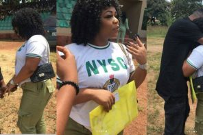 NYSC member gets engaged during her passing out parade in Ebonyi state (Photos)