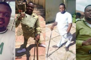 Polio victim trends online after completing compulsory NYSC program, Nigerians react