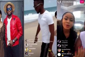 Nina jets out to Ghana with Miracle, few weeks after he dumped her