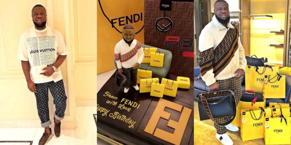 'Thank you so much for the love' – Hushpuppi tells his fans as he receives a Fendi designed cake For his birthday