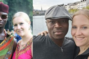 White lady calls her Nigerian husband sweet names in Igbo language