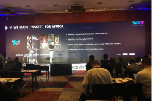 Vskit being invited for a key speech in AfricaCom video forum 2018
