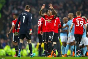 Manchester United Wing Back, Ashley Young, Can't Just Get Over Thrashing By Machester City