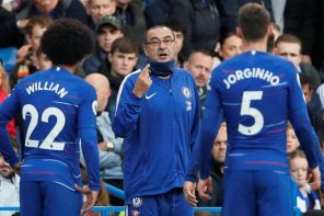 Here Is How Chelsea Coach, Maurizio Sarri, Reacted To Breaking 26Years Old EPL Record