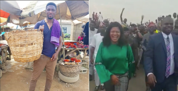 Fan Blasts Niyi Johnson Carrying A Pepper Basket After Toyin Abraham Was Spotted With Osinbajo & Sanwo Olu