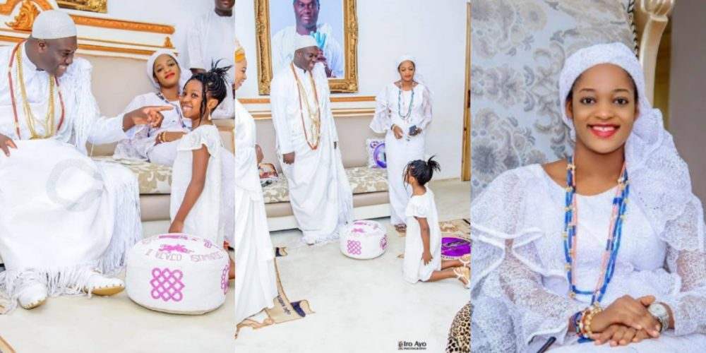 Image result for Ooni of Ife's new wife, Naomi Oluwaseyi stuns in new photo.