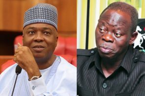 This Saraki and Oshiomhole's photo stirs public debate