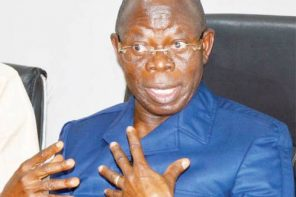 Oshiomhole threatens law suit against 'disgruntled' elements maligning his 'hard-earned' reputation