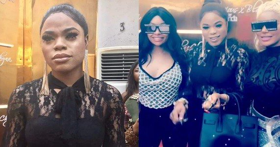 Image result for Bobrisky's real face pictured at Dencia's event