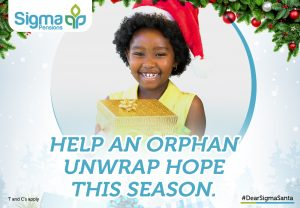 Sigma BlogpostArtboard 3 300x208 - Bringing Hope to Orphans- Sigma Pensions launches its Christmas Campaign Tagged #DearSigmaSanta